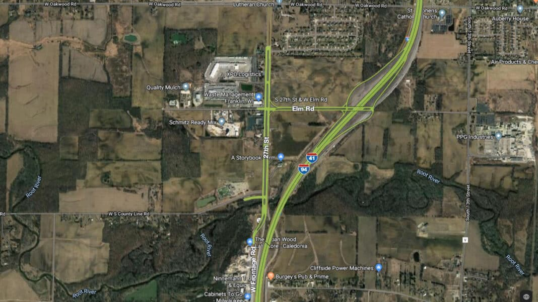 Map of future interchange at I-94 and Elm Road.