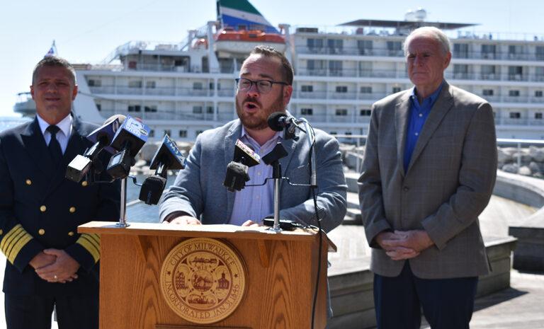 Port Milwaukee director Adam Schlicht
