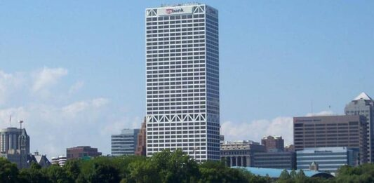 U.S. Bank Center in downtown Milwaukee.