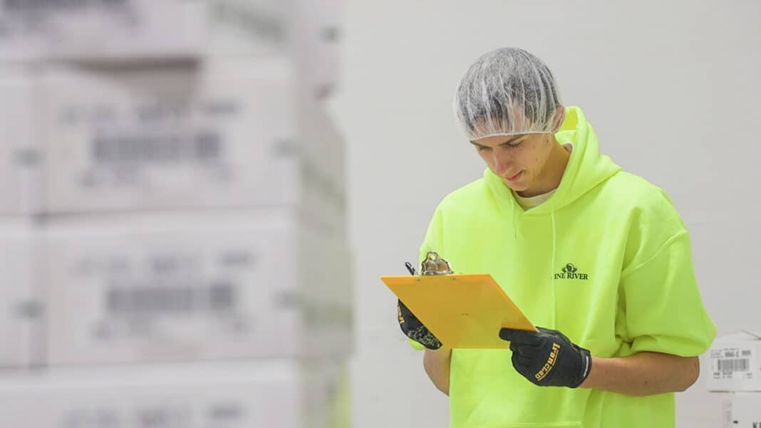 Lakeland University student Ryan Hoey was a food safety and quality leader at Pine River Pre-Pack, Inc., in Newton.