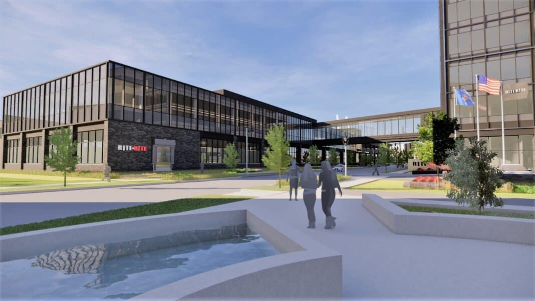 Rite-Hite headquarters in Reed Street Yards. Rendering: Eppstein Uhen Architects