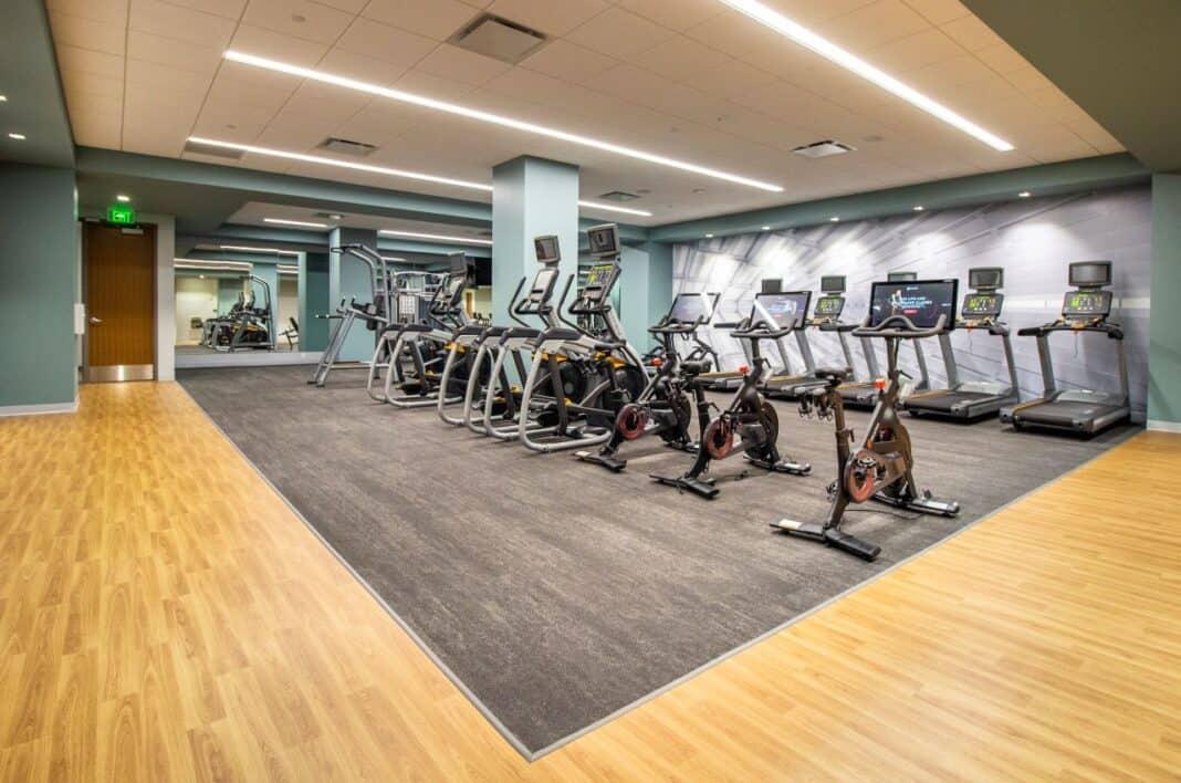 BMO Tower fitness center. Photo courtesy of Amanda Marek/Irgens Partners