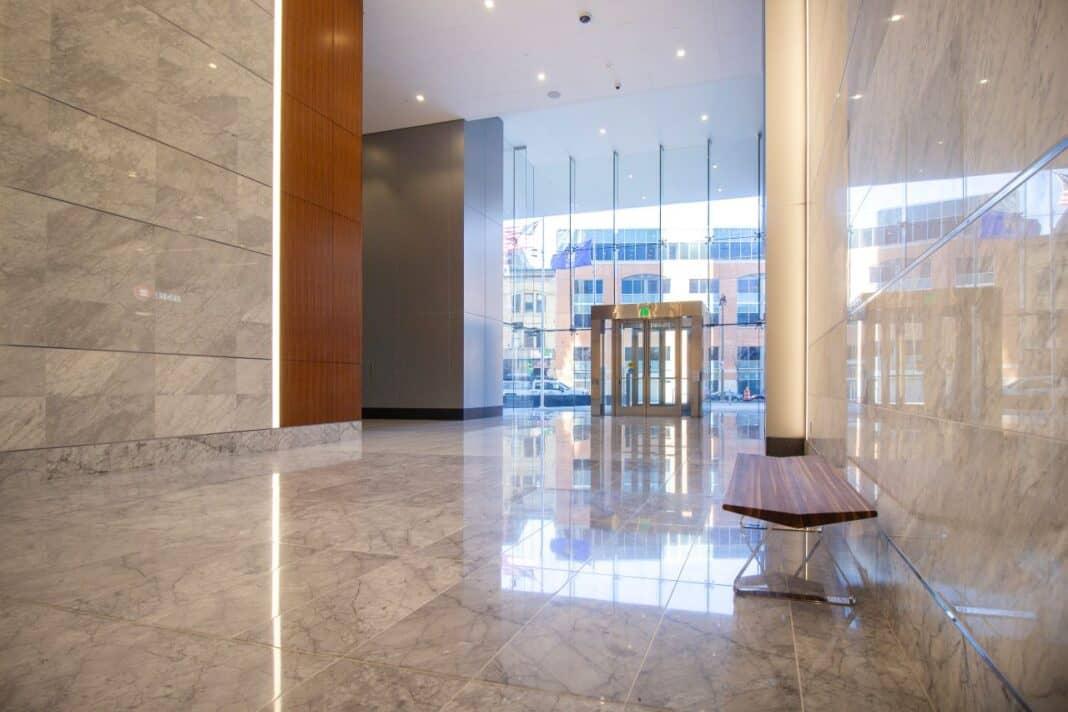 BMO Tower lobby. Photo courtesy of Amanda Marek/Irgens Partners