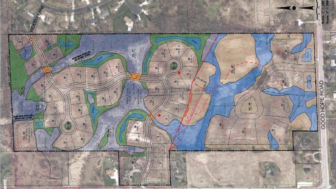 Edgewood Preserve initial concept. Credit: Trio Engineering