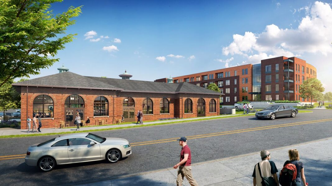 The power house next to the Crescent Apartments. Rendering: Kahler Slater