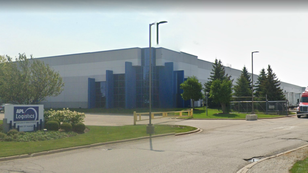 APL Logistics facility in Pleasant Prairie. Photo from Google.