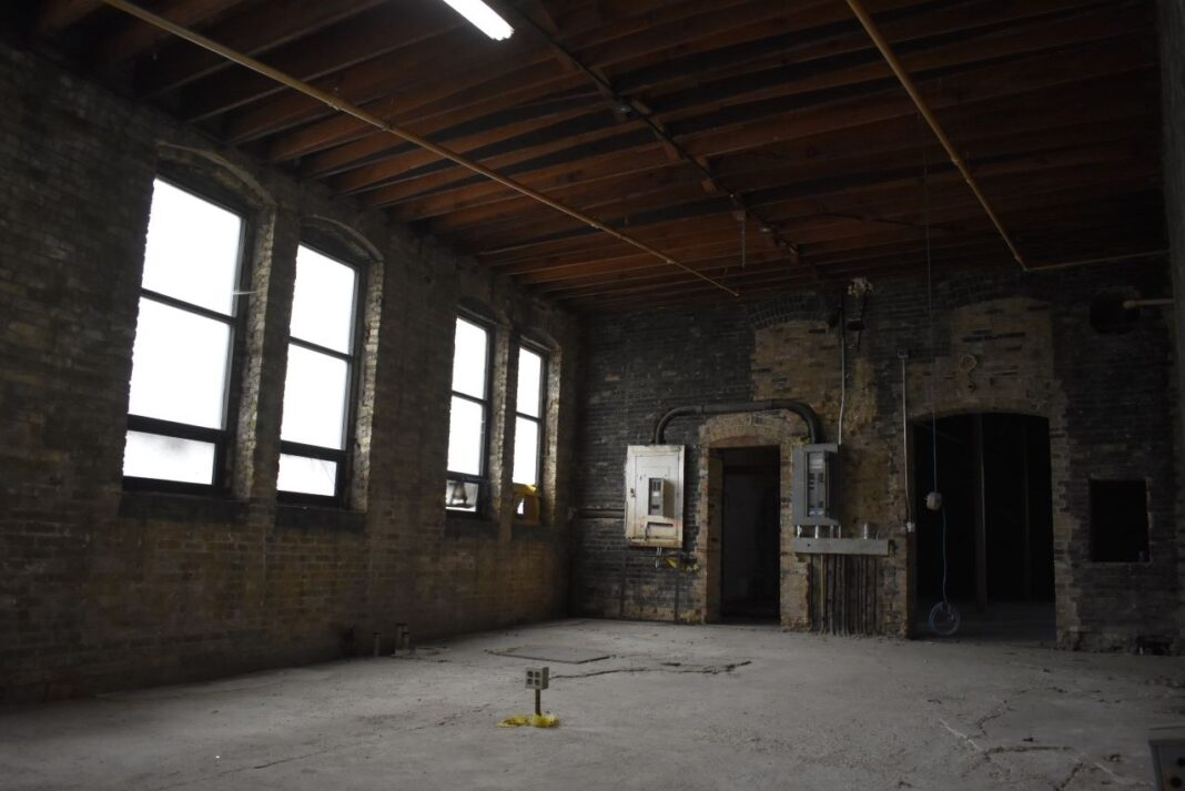 This room will be the hot kitchen area for Skyline Catering.