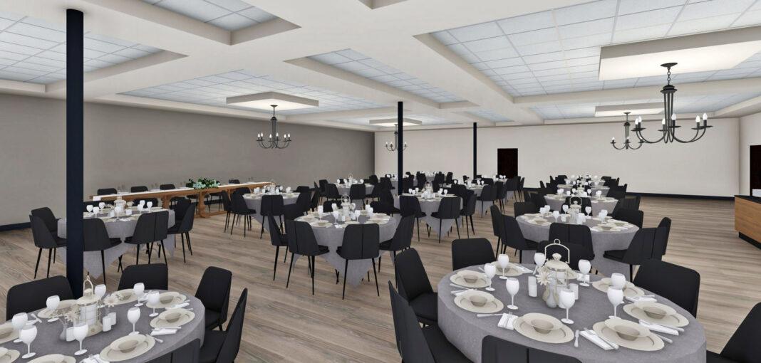 Banquet hall. Rendering: Zimmerman Architectural Studios