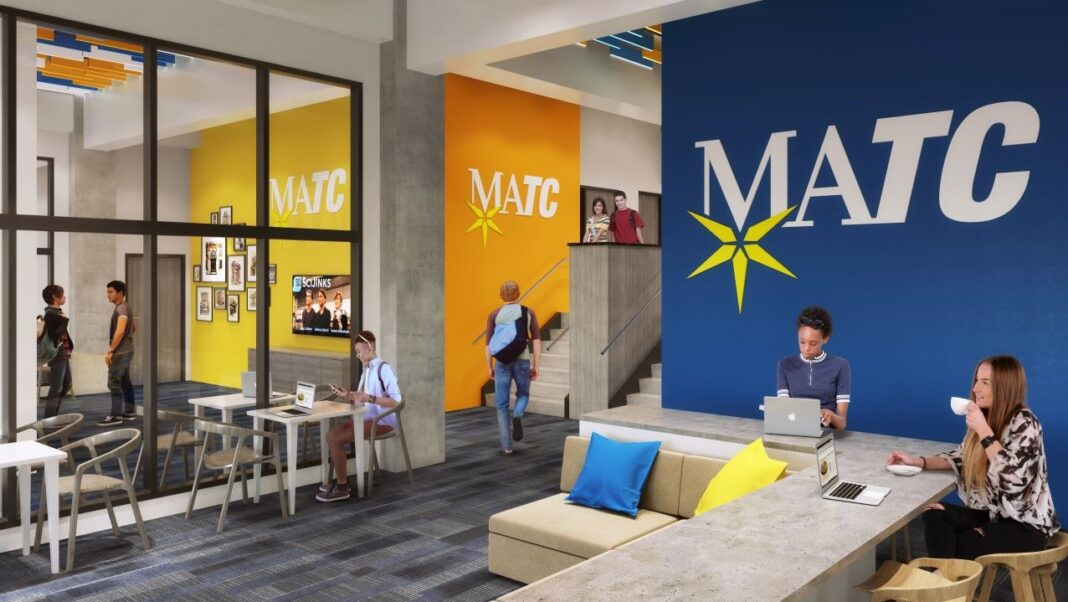 Student lounge. Rendering courtesy of J. Jeffers & Co.