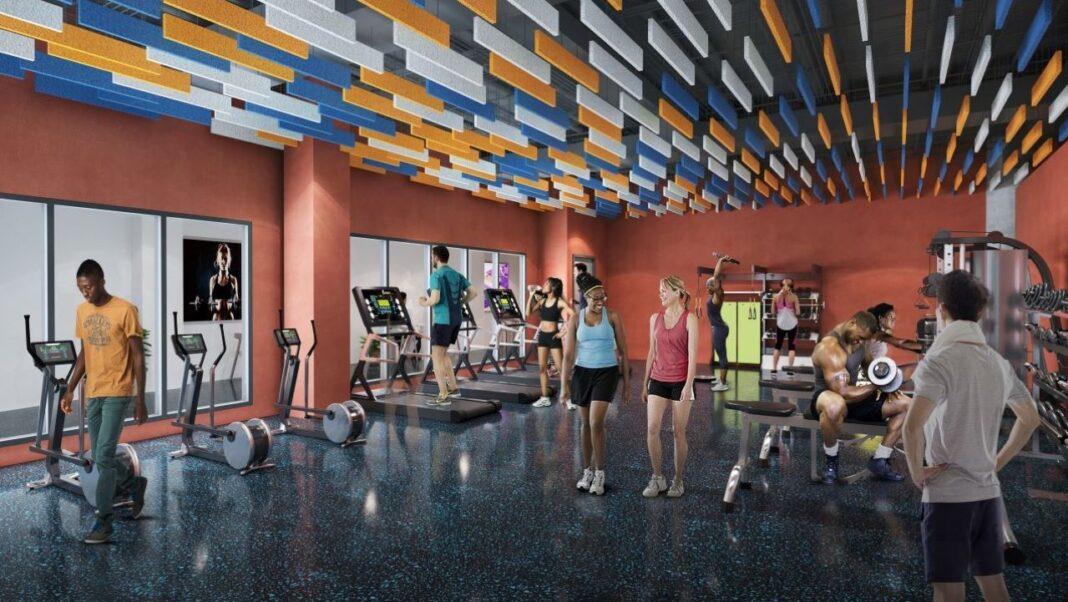 Fitness center. Rendering courtesy of J. Jeffers & Co.