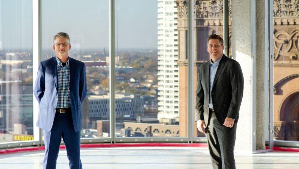 Kahler Slater executive vice presidents Al Krueger and Glenn Roby. Photo contributed by Kahler Slater.