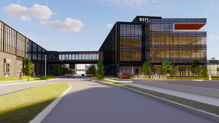A rendering of Rite-Hite's planned headquarters in Reed Street Yards.