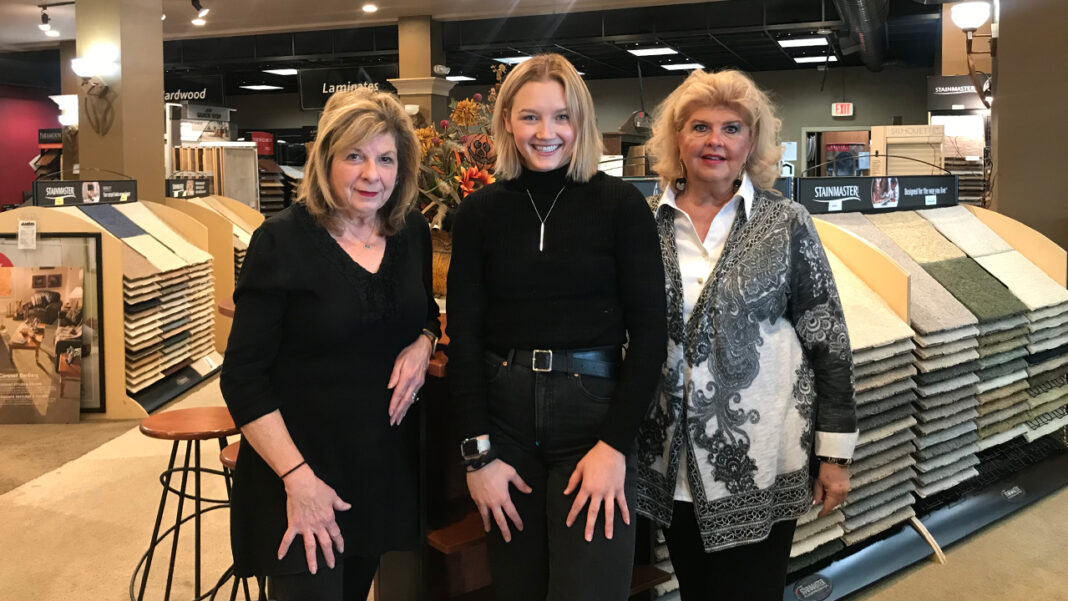 Carpet Town USA, Inc. owner Wendy Werner, designer Lauren Frank and designer Dianne Adam.
