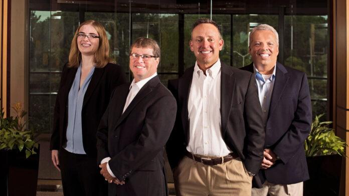 Left to Right, Morgan Plagenz, Jim Harasha, Jerry Jendusa, Paul Schulls