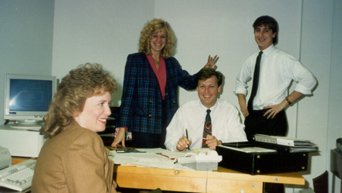 Gary Zimmerman, Stephanie Anderson and early team (first office).