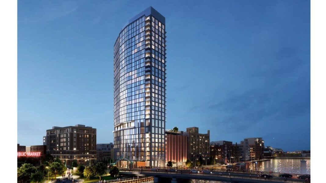 Rendering of the 333 N. Water St. project, from SCB.