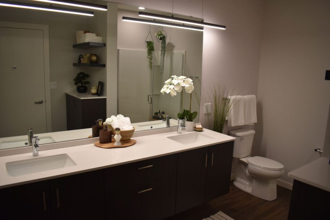 The bathrooms were made extra large with double vanities