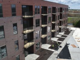 All units of Crescent Apartments will come online by mid-June.