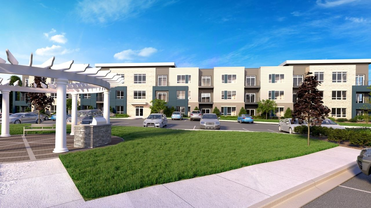 Hub13 apartments in Oak Creek. Rendering: JLA Architects