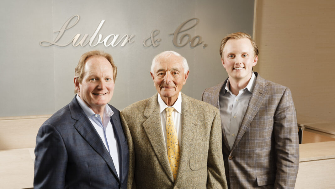 David, Sheldon and Patrick Lubar in the offices of Lubar & Co. at the 833 East building in downtown Milwaukee.