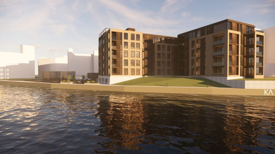 River Place Lofts phase four. Rendering: Korb and Associates