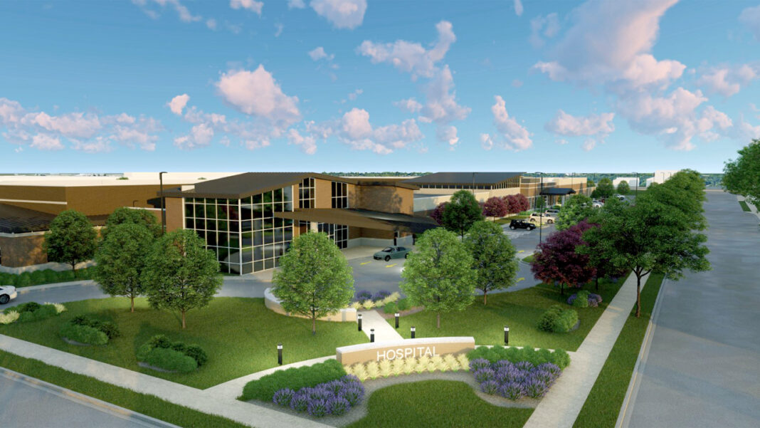 A rendering of the Granite Hills Hospital at 1706 S. 68th St. in West Allis, which is expected to open to patients in September.