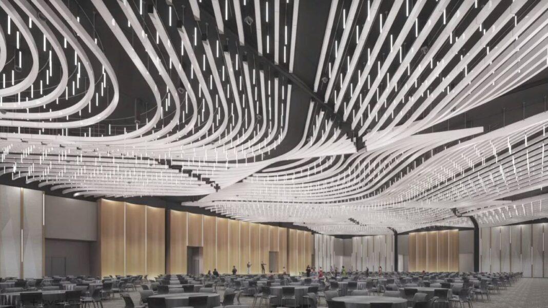 Optional ballroom ceiling design. Rendering: tvsdesign and Eppstein Uhen Architects