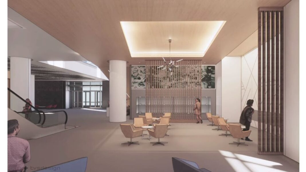 Lounge area. Rendering: tvsdesign and EUA