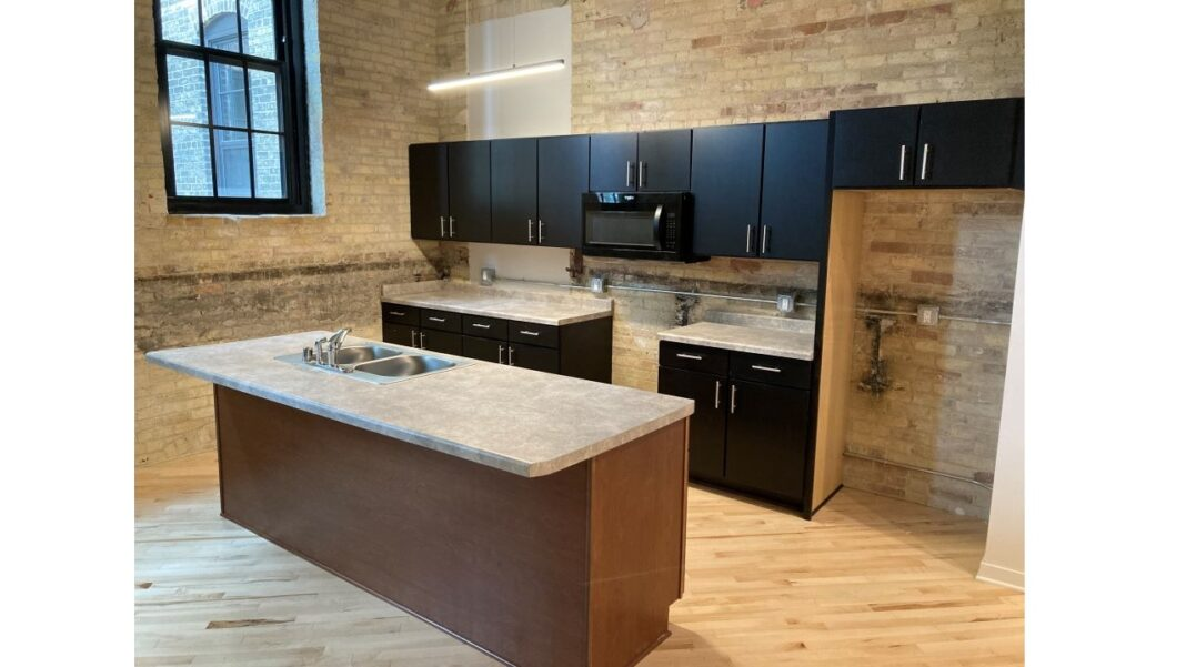 Kitchen in an Arabella apartment unit. Courtesy of J. Jeffers & Co.