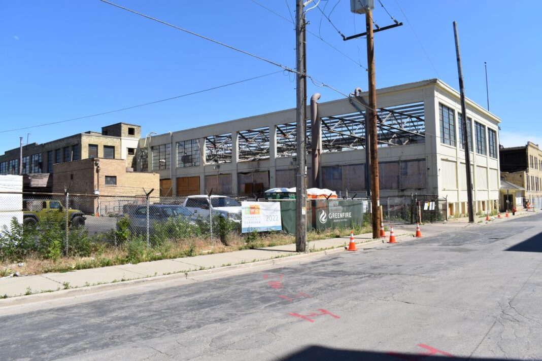 Future apartment building east of 32nd Street