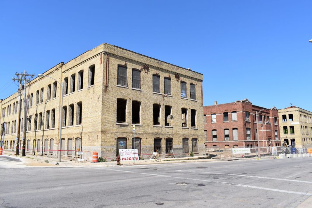 Future apartment building and business accelerator space.