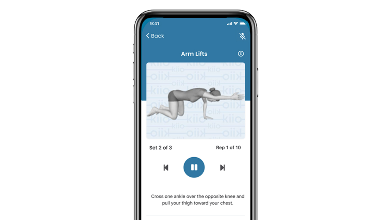Madison-based Kiio developed an app-based program for people with musculoskeletalissues that includes on-demand exercise therapy and interactive coaching.