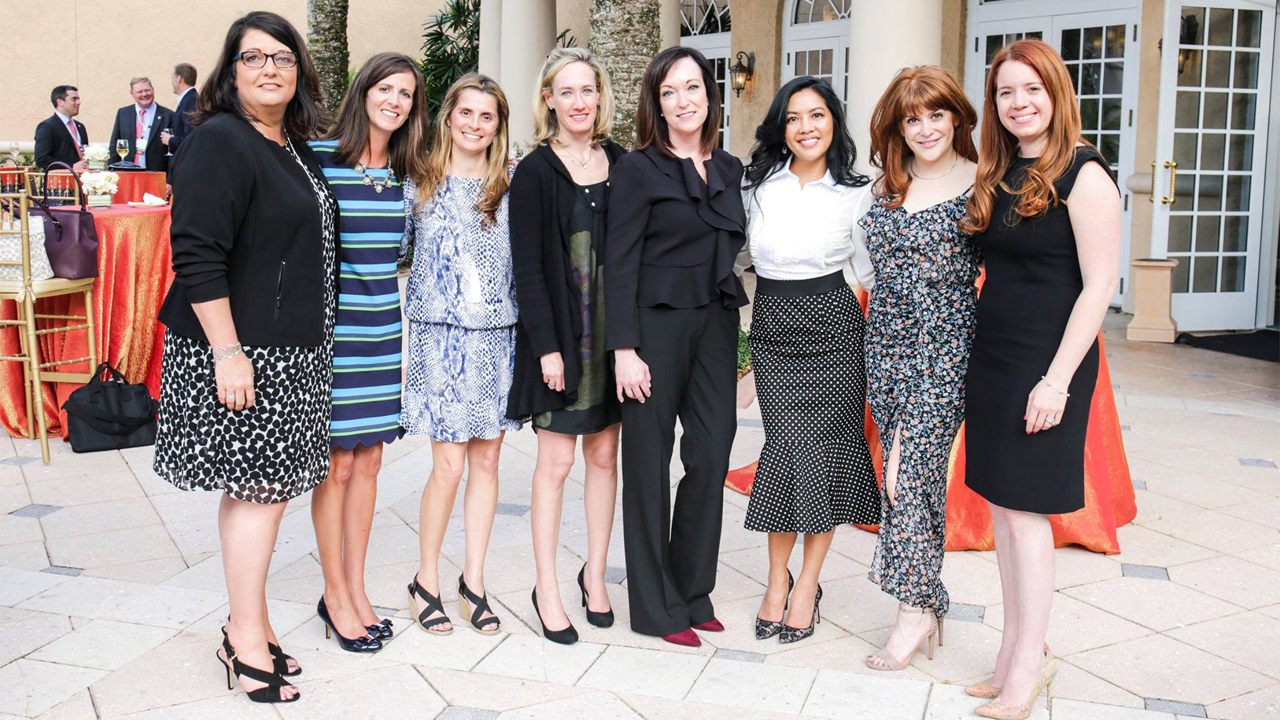 Fourth-generation Badger Liquor owner Lacey Sadoff (second from right) pictured with the founding members of the Wine & Spirits Wholesalers of America Women's Leadership Council.