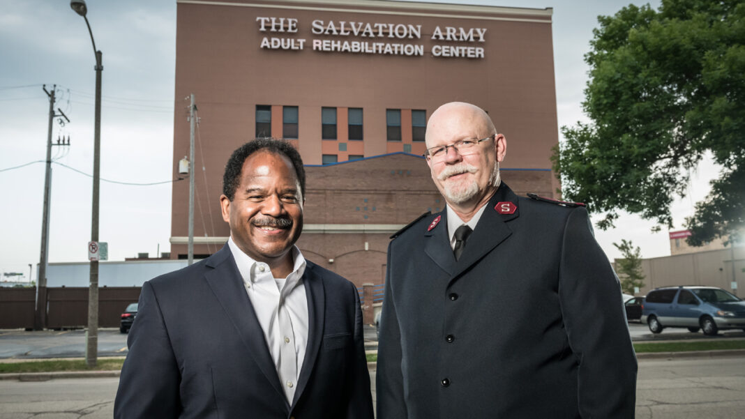 Curt Reynolds and Capt. Steve Staneart from The Salvation Army ARC.