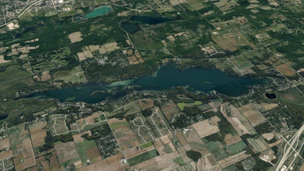 Big Cedar Lake image from Google Earth.