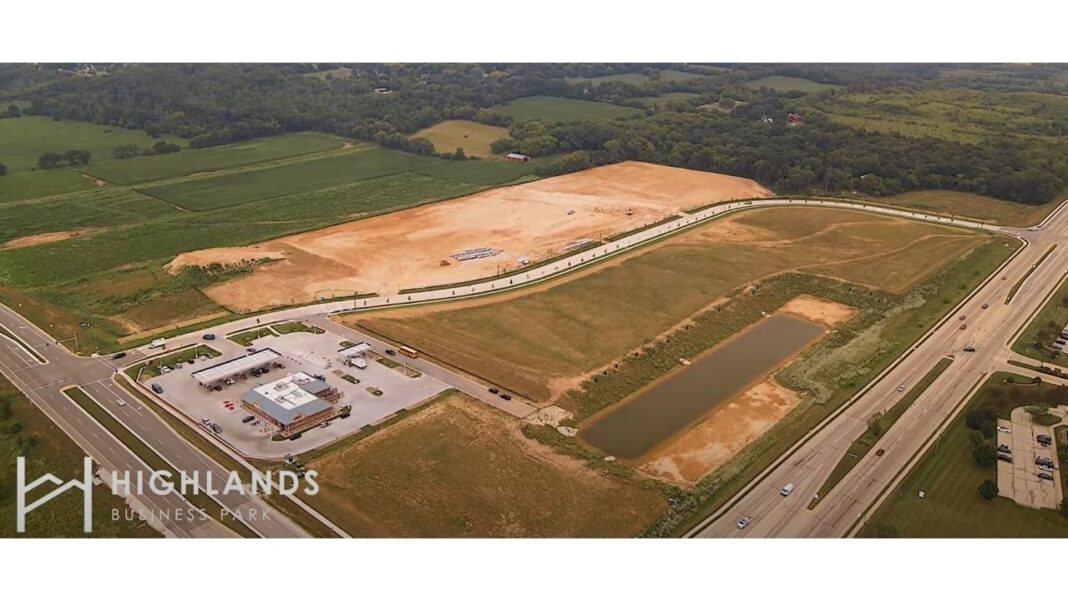 An aerial view of Highlands Business Park in Sussex. Courtesy of Wangard Partners Inc.
