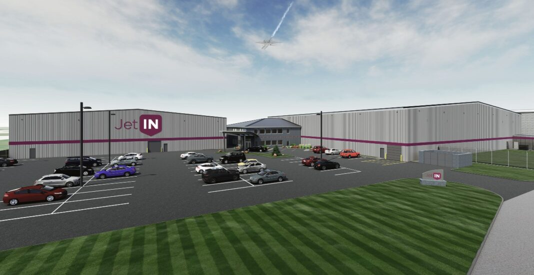A rendering of Jet In and Jet Out's new campus at Milwaukee Mitchell International airport, courtesy of Jet In.