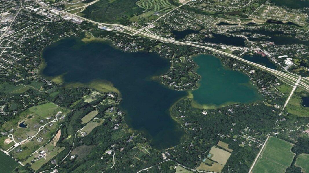 Oconomowoc Lake image from Google Earth.