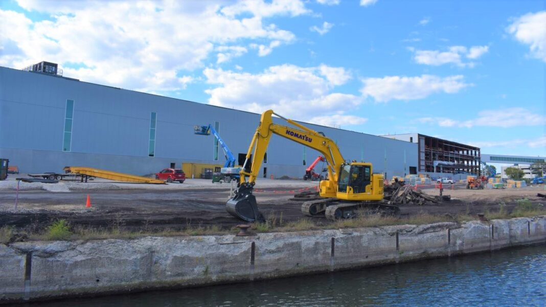 Komatsu Mining is in the process of building its manufacturing facility in the Harbor District