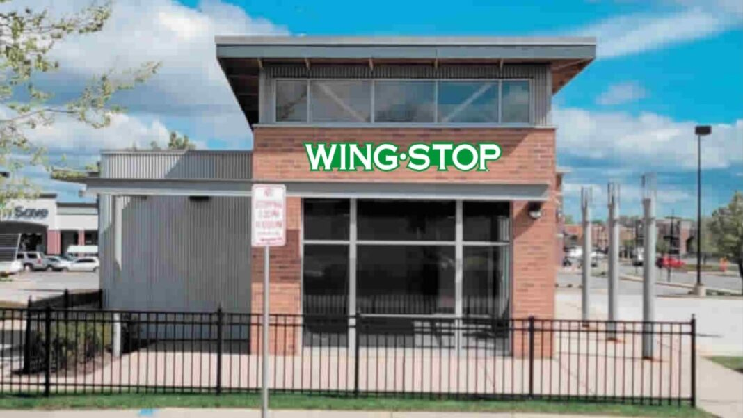 Rendering of the Wingstop restaurant planned at Midtown Center. Photo illustration: Strictly Neon Inc.