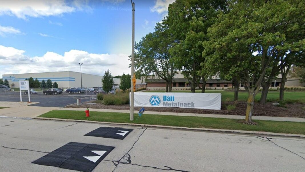 Ball Metalpack's Milwaukee plant. Image from Google.