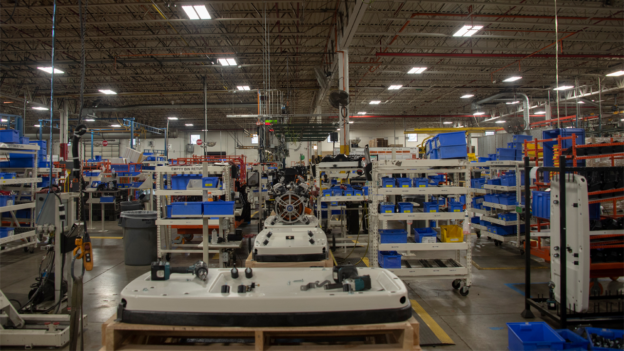 Robots were added to Generac's new alternator line in Whitewater to improve ergonomics.