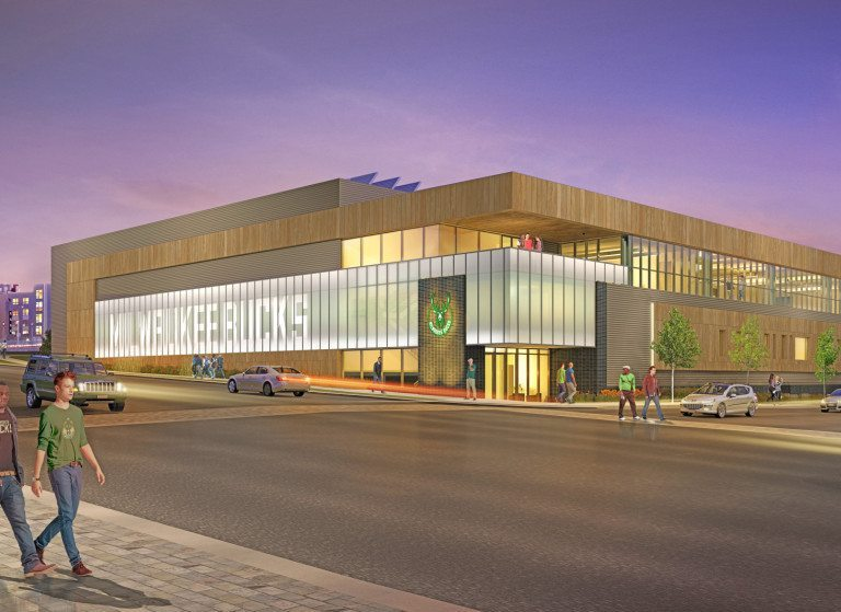 Rendering of the new Bucks Training Center