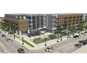 A rendering of Freshwater Plaza.