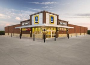 A rendering of the Aldi exterior