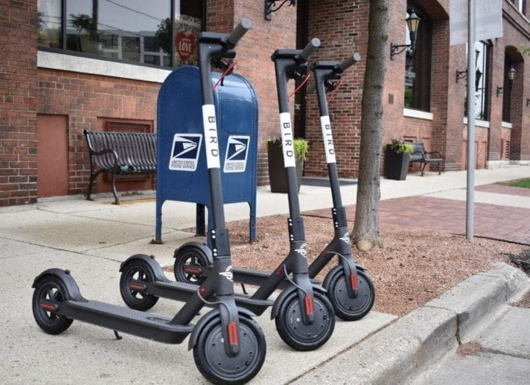 Bird scooters were first distributed in the Third Ward in June 2018.