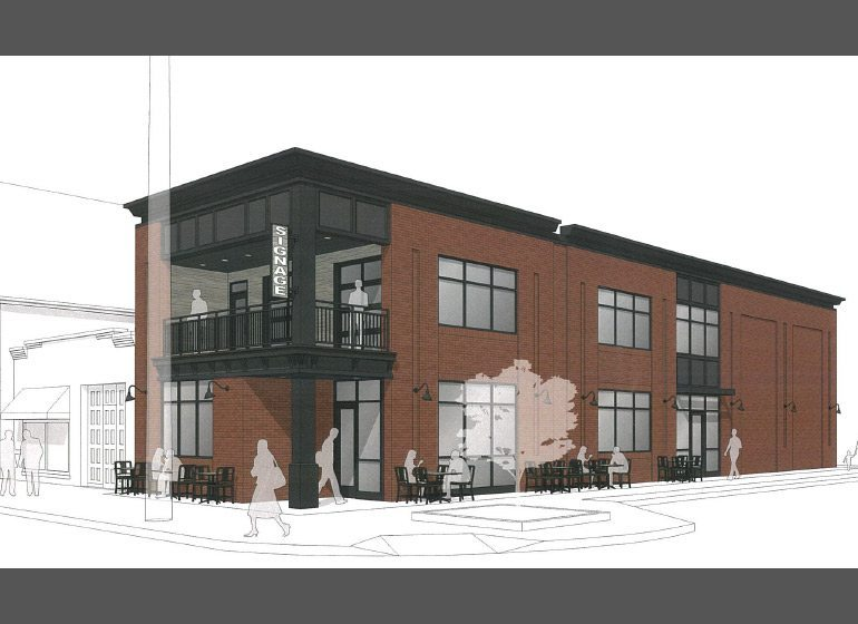 Rendering of proposed restaurant on Brady Street.