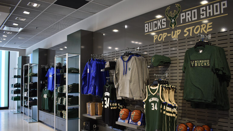 The Bucks pop-up store at Bayshore earlier this year.
