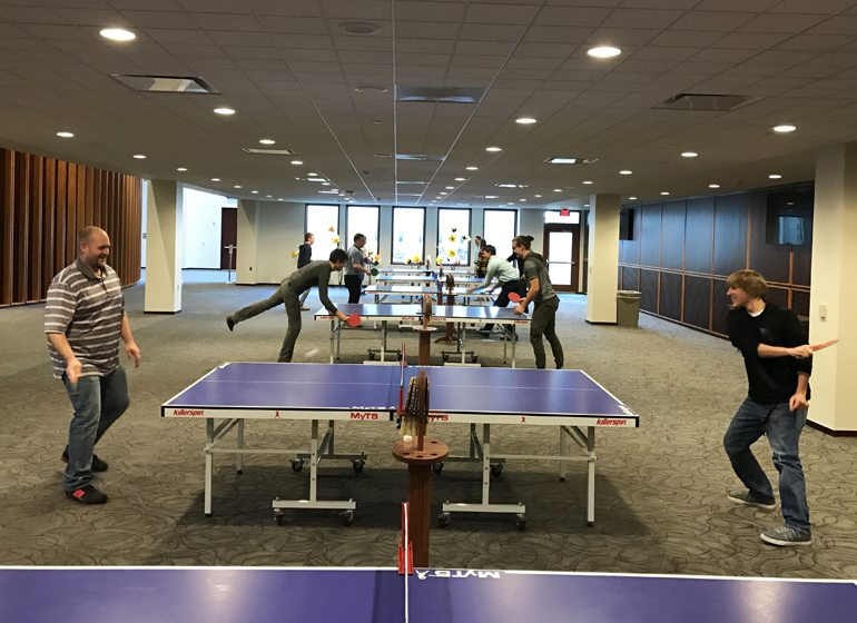 Pingpong tables are among the amenities at Acuity's headquarters.