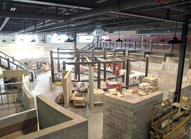 Milwaukee Tool is in the process of renovating space at its headquarters for its advanced concept development teams. The finished space will be made of concrete and steel to reflect the company's brand.
